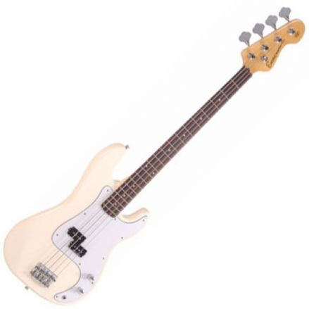 Encore E4 Blaster Bass Guitar Vintage White